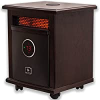 Heat Storm Logan Deluxe With Built In Bluetooth Speaker Indoor Portable Infrared Space Heater - Stylish - 1500 Watts - Built in Thermostat & Overheat Sensor - Remote Control