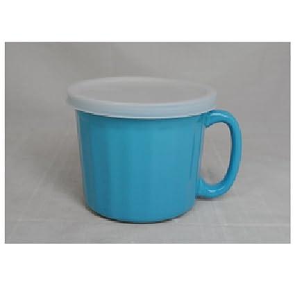 Amazon.com: Home Essentials Stoneware Ceramic Soup Mug with Lid ...