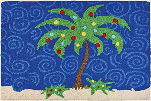 (Jellybean Holiday Palm Tree Polyester Rug for Indoor/Outdoor Use )