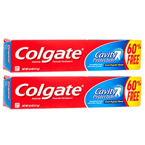 (Colgate Cavity Protection Toothpaste with Fluoride, 4 ounce (2 Pack))