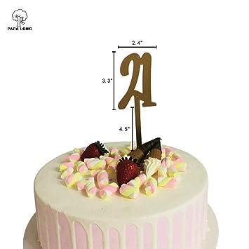 PAPALONG DESIGN 21st Birthday Cake Topper