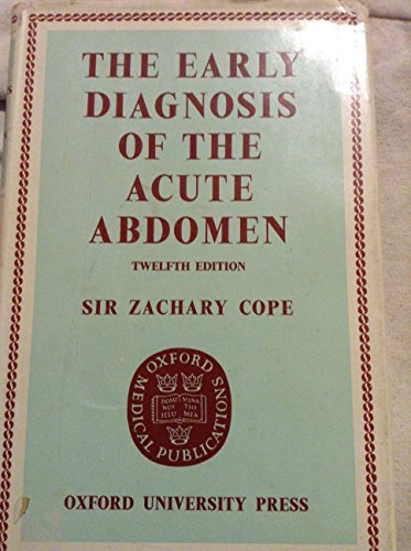 THE EARLY DIAGNOSIS OF THE ACUTE ADOMEN-12TH EDITION