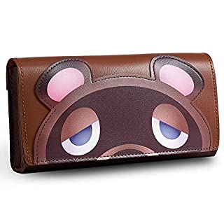 Funlab Leather Carrying Case for Nintendo Switch Lite,Portable Ultra Slim Clutch with Game Card Cartridges for Animal Crossing Fans