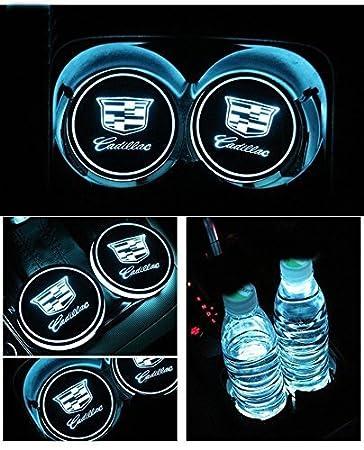 Amazon Com Jsamz Car Logo Led Cup Pad Led Cup Coaster Usb Charging