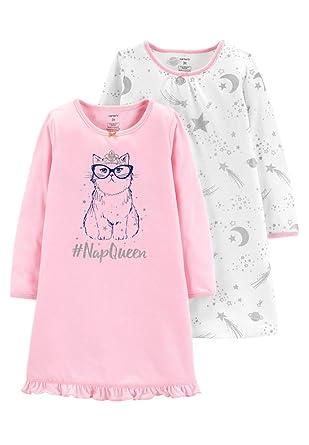 839a5b9e3 Amazon.com  Carter s Toddler Girls 2-pk  NapQueen Cat Star and Moon ...