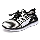 YiuKhmer Kids Shoes Boys Girls Tennis Sneakers Lace-up Casual Shoes (Toddler/Little Kid) (13M US Little Kid, Black)