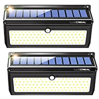 Luscreal Solar lights Outdoor 100 LED Solar Motion Sensor