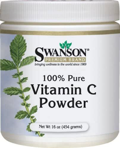 100% Pure Vitamin C Powder 16 oz (454 grams) Powder FREE Scoop included by Swanson 2 Pack