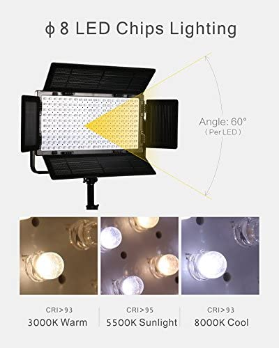 Falcon Eyes 3pcs//lot 100W Dimmable LCD Studio Light Panel LED Video Light DMX512 LED photo lighting LP-2005TD