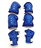 S'beauty 6Pcs Set Sports Protective Gear Kid Children's Wrist Elbow Knee Protector