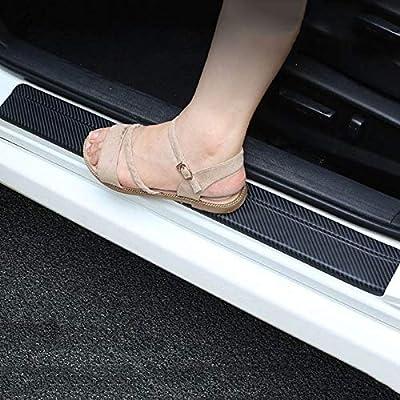 SENYAZON Car Threshold Pedal Sticker for Dodge Chrysler Decoration Scuff Plate Carbon Fibre Vinyl Sticker Car Accessories car-Styling (red): Automotive