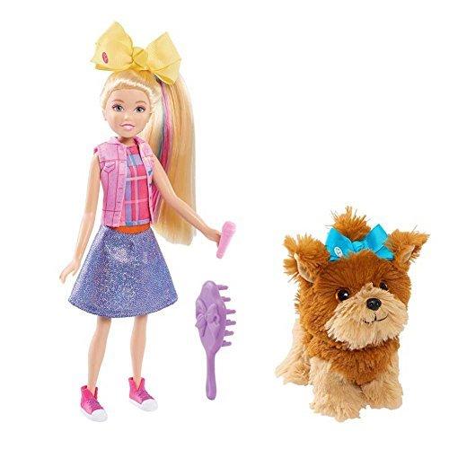 JoJo Siwa Singing Doll 10 With Bow Bow Plush Dog (Blue Bow) (Doll Singing Plush)
