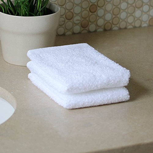Personalized Monogrammed Decorative Bath Linens for Home, Office, and Gifts. Hotel Collection 100% USA Made 6-Piece Towel Set - White - 2 Bath, 2 Hand & 2 Wash Towels. Luxurious Boutique Towels. by 1888 Mills (Image #4)