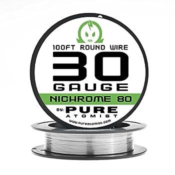 Pure Atomist Nichrome 80 30 Gauge AWG Round Wire Roll 0.25mm 30g Spool N80