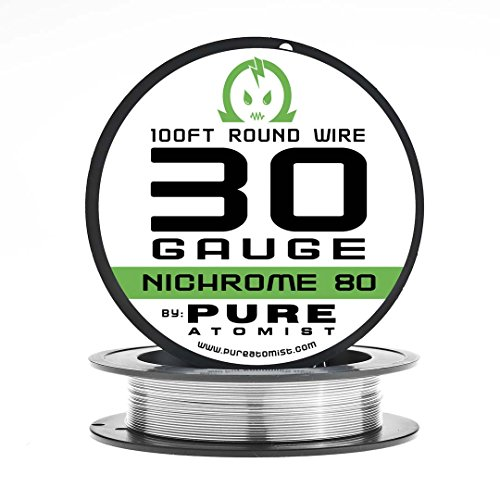 Pure Atomist Nichrome 80 30 Gauge AWG Round Wire Roll 0.25mm 30g Spool N80