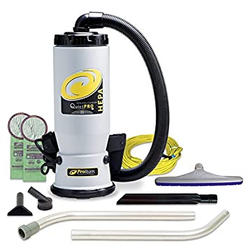 ProTeam Commercial Backpack Vacuum QuietPro BP With HEPA Media Filtration And Xover Multi
