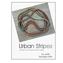 Urban Stripes: a pattern set for bead crochet ropes