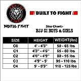 BRUTUL FIGHT Ultra Light BJJ Brazilian Jiu Jitsu Gi BJJ Gi Kimonos Lightweight for Kids with Preshrunk Fabric