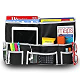 Fancii Bedside Caddy Organizer – 10 Pockets Hanging Storage Caddy with Wide & Strong Velcro, 3 Metal Grommets – Declutter & organize your Bedroom, Bathroom, Dorm Room, and Apartment