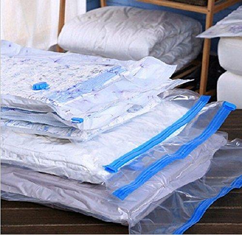 Vacuum Bag - Vacuum Bag Valve Transparent Border Foldable Compressed Organizer Home Quilt Storage Wardrobe - 5068 Scented Labels Number Bagless Freshner Veneer Mattress Riccar Vacuums Tabl ()