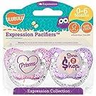 0-6 Months, 2-Pack Ulubulu Princess/Born To Shop Pacifiers