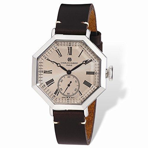 Charles-Hubert, Paris Men's 3962-RG Premium Collection Analog Display Japanese Quartz Brown Watch