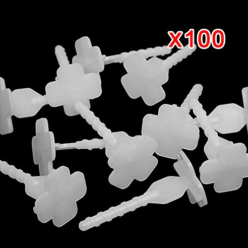 100pcs Professional Ceramic Tile Flat Leveling System Wall Floor Spacer-Flooring Level Strap Clips Wedges Caps Device Base Tools (Base