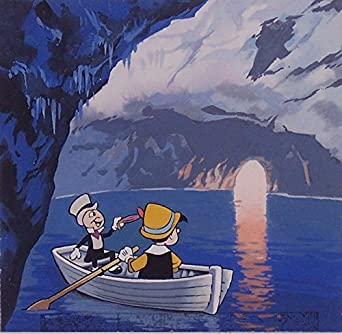 Image result for Pinocchio and jiminy cricket on a boat pictures