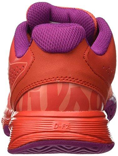 Wilson Kaos Comp Jr Radiant.r/Coral Punc/Pk, Zapatillas De Tenis Unisex Niños Multicolor (Radiant Red X166)