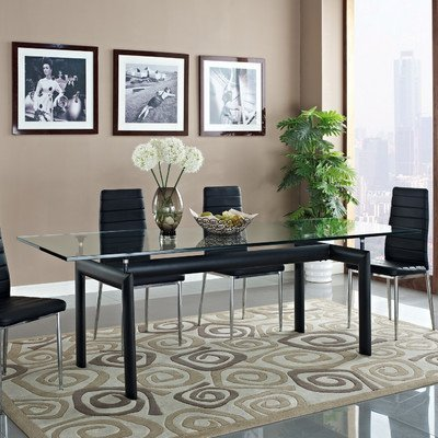(Modway Glass Top Dining Table -)
