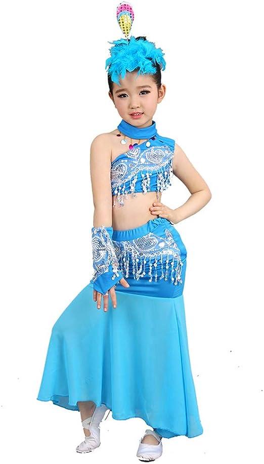F&W WF Disfraz de Baile – Falda de Cola de pez elástica para Baile ...