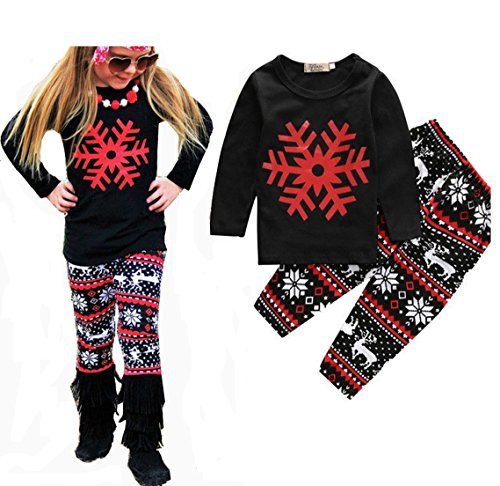 Price comparison product image 2PCS Toddler Kids Baby Girls Clothes T-shirt Tops Long Pants Leggings Outfit Set