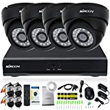 KKmoon 8CH H.264 960H/D1 DVR Security System with 4pcs 800TVL IR-CUT Night View CCTV Camera for Home Surveillance