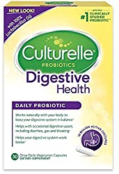Culturelle Daily Probiotic, 30 Count Digestive Health Capsules, Contains Lactobacillus Gg –The Most Clinically Studied Probiotic