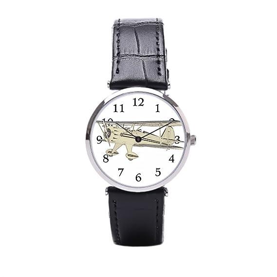 sjfy segunda guerra mundial avión reloj de pulsera de cuero reloj: Amazon.es: Relojes
