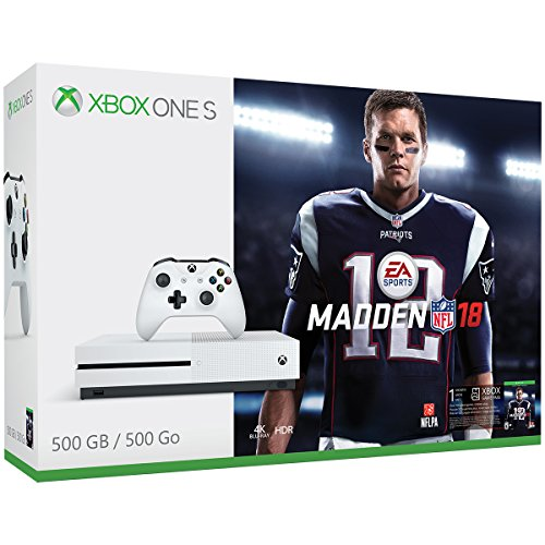 51gmNADHOeL - Xbox-One-S-500GB-Console-Madden-NFL-18-Bundle-Discontinued