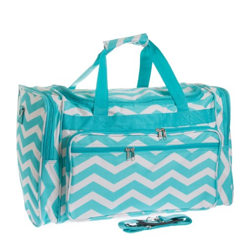 Travel Duffle Light White Chevron product image