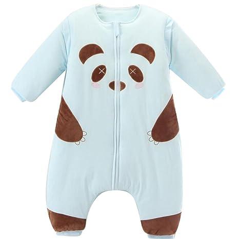 Bebé Saco de dormir con pies de winterschlafanzug infantil baumwollen Niño y Niña Pijama/Mono