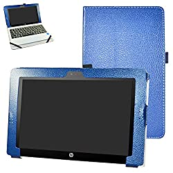 "Hp Pavilion X2 10 Hp X2 210 G1 Case,mama Mouth Pu Leather Folio Stand Cover For 10.1"" Hp Pavilion X2 10-n113dx N114dx N123dx N124dx N013dx Hp X2 210 G1 Detachable 2-in-1 Laptoptablet,dark Blue"