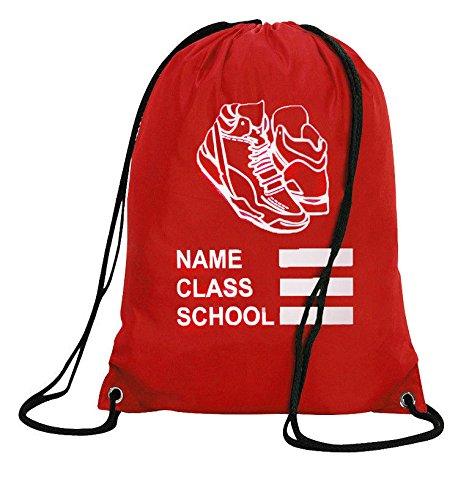 3d3643cd7b Personalised PE Bag Drawstring Backpack Waterproof Gym Swim School Sports  Bag - Buy Online in Oman.