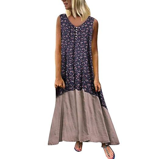 c32a6f53ec0 Amazon.com: Plus Size Women Vintage Patchwork Casual Loose Boho Long ...