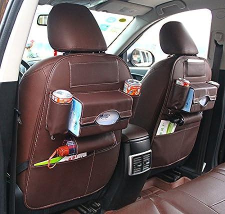 HCMAX 2 Pack Auto-R/ückenlehnenschutz Autositz zur/ück Veranstalter Tasche R/ücksitz Schutzaufbewahrung Trittmatte Ipad Mini Halter Gro/ßes Reisezubeh/ör