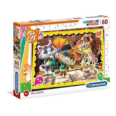 Clementoni Supercolor Puzzle 44 Gatti 60 Pezzi Multicolore 26052