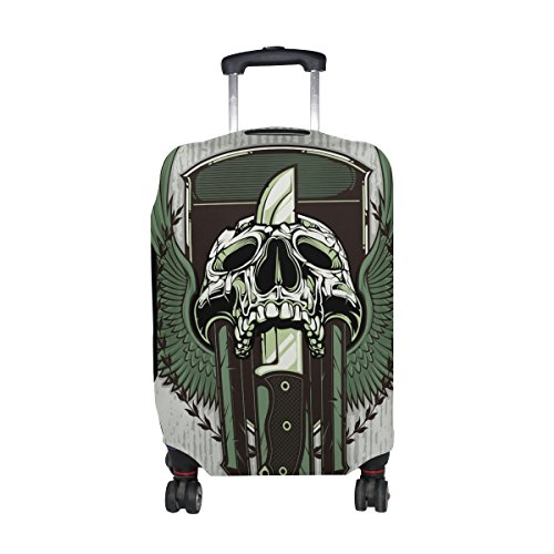 Punk Skull Travel Luggage Protector Baggage Suitcase Cover Fits 29-32 Inch Luggage by CoolPrintAll (Image #5)
