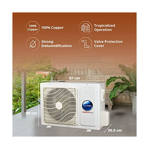 Lloyd 1.0 Ton 3 Star Inverter Split AC (Copper, Anti-Viral & PM 2.5 Filter, 2021 Model, GLS12I36WRBP, White) 2021 August Lloyd Split AC with Inverter Compressor: WiFi Ready AC with variable speed compressor which automatically adjusts power depending on desired room temperature & heat load, Energy Efficient with Low Noise Operation, Smart & Elegant design to suit your office & home requirements / interiors Capacity: 1.0 ton suitable for medium size rooms (Up to 110 square feet) Energy Rating: 3 Star, Annual Energy Consumption: 745.89, ISEER Value: 3.61 (please refer to energy label on the product page)