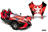 AMR Racing Graphics Polaris Slingshot SL 2015-2016 Vinyl Wrap Hood Kit - Torn Red