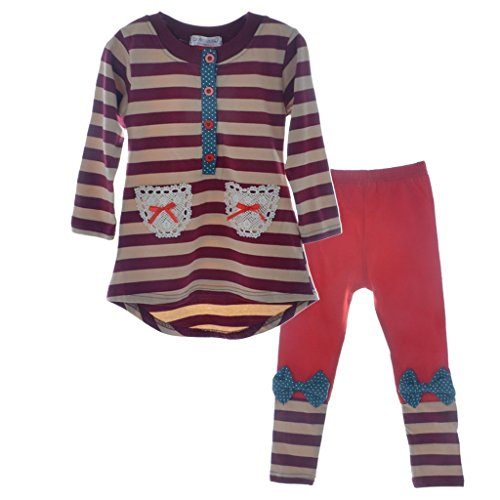 Ancia Winter Kids Girls Cartoon Printed Long Sleeve Top & Pant