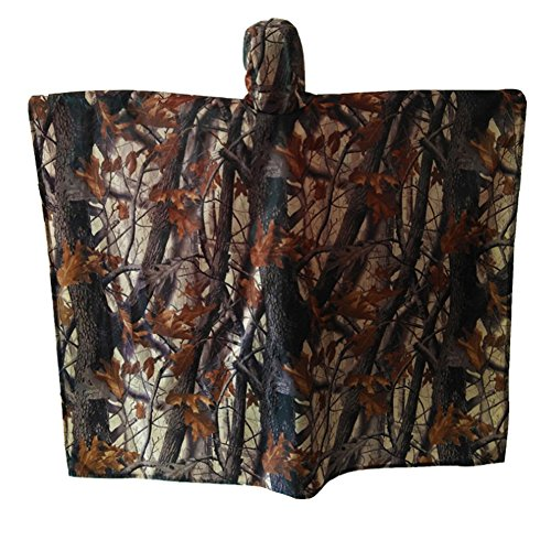Silfrae Poncho Raincoat with Hooded Survival Accessory for Travel Fishing Hunting and Camping (Realtree Camo) by Silfrae