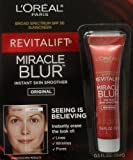 L'Oreal Paris **2 PACK** Revitalift Miracle Blur Instant Skin Smoother Finishing Cream with Broad Spectrum SPF 30 Sunscreen .5 Oz (15 mL) - 2 PACK