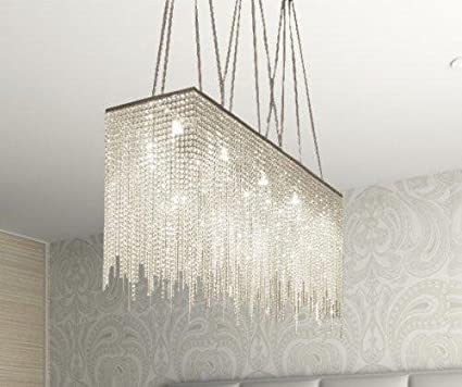 10 Light Modern/Contemporary Dining Room Chandelier Rectangular Chandeliers  Lighting Dressed With Crystal! 28u0026quot
